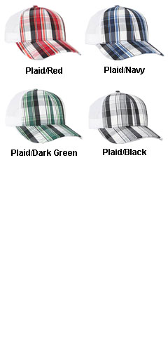 Plaid Trucker Mesh Cap - All Colors