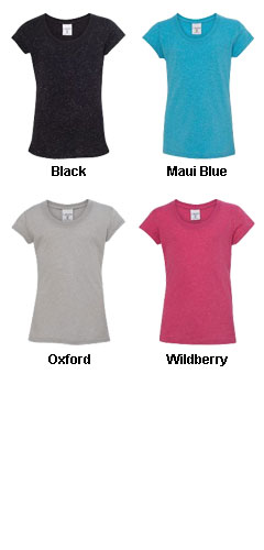 Girls Glitter Tee from J America - All Colors