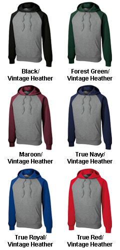 Raglan Colorblock Pullover Hooded Sweatshirt - All Colors
