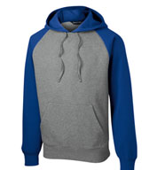 Custom Raglan Colorblock Pullover Hooded Sweatshirt