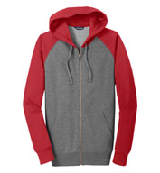 Custom Raglan Colorblock Full-Zip Hooded Jacket