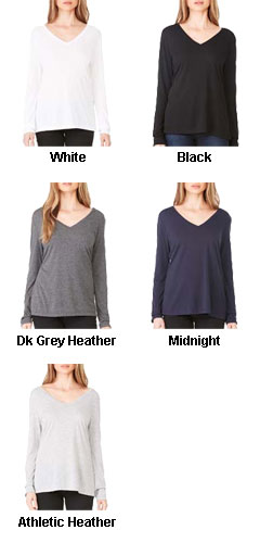 Womens Flowy Long Sleeve Tee - All Colors