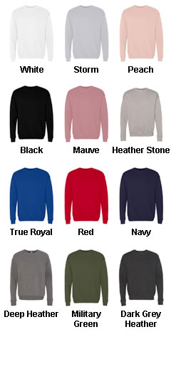 Bella & Canvas Unisex Drop Shoulder Sweatshirt - All Colors