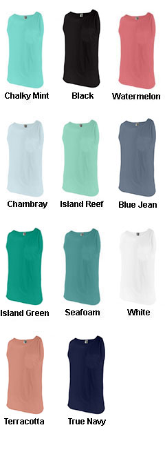 Comfort Colors Adult Tank Top with Pocket - All Colors