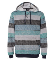 Custom Burnside Printed Striped Fleece