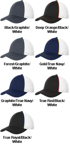 Sport-Tek� Piped Mesh Back Cap - All Colors
