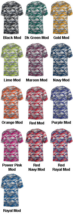 Youth Mod Camo Wicking Tee - All Colors