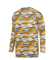 Custom Youth Mod Camo Long Sleeve Wicking Tee