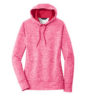 Custom Sport-Tek Ladies PosiCharge Electric Heather Fleece Hooded Pullover