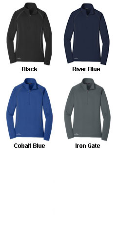 Eddie Bauer Ladies 1/2-Zip Base Layer Fleece - All Colors