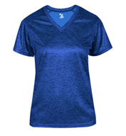 Ladies Tonal Blend V-Neck Tee