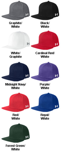 Under Armour Flat Bill Solid Cap - All Colors