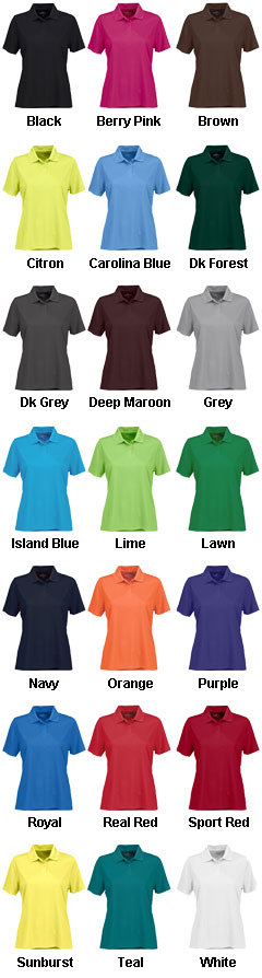 Womens Vansport� Omega Solid Mesh Tech Polo - All Colors