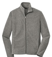 Mens  Heather Microfleece Full Zip Jacket
