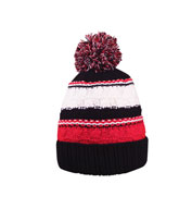 Custom Striped Team Pom Beanie