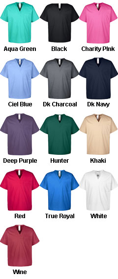 Mens Restore 4.9 oz Scrub Top - All Colors