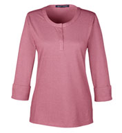 Ladies Central Cotton Blend Melange Knit Top