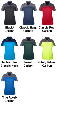 Ash City Core 365 Ladies Balance Colorblock Performance Pique Polo - All Colors
