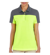 Custom Ash City Core 365 Ladies Balance Colorblock Performance Pique Polo