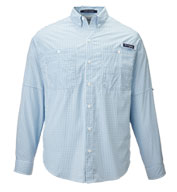 Custom Columbia Mens PFG Tamiami Gingham Shirt