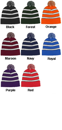 Field Stripe Beanie Made In USA - All Colors