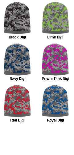 Digi Camo Knit Beanie - All Colors