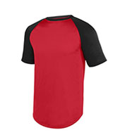 Youth Adult Wicking Short Sleeve Baseball Jersey