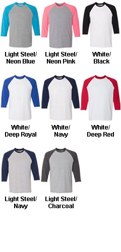 Adult Hanes X-Temp Baseball Tee - All Colors