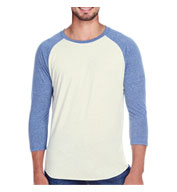 Threadfast Apparel Mens Triblend 3/4 Sleeve Raglan
