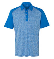 Adidas Golf Heather Colorblock Polo