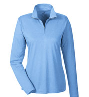 Custom Ladies Cool & Dry Heathered Performance Quarter-Zip
