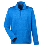 Custom Mens Newbury Melange Fleece Quarter-Zip