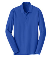 Custom Adult Long Sleeve Core Classic Pique Polo