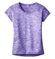 Custom Ladies PosiCharge® Electric Heather Tee