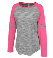 Womens Space-Dye Striped Crew