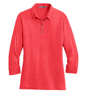 Ladies 3/4 Sleeve Meridian Cotton Blend Polo