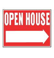 Plastic Double-Sided Open House Sign