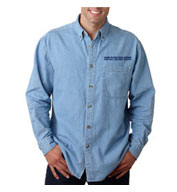 USPS Mens Denim Long Sleeve Shirt