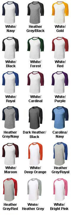 Adult Colorblock Raglan Jerseys - All Colors