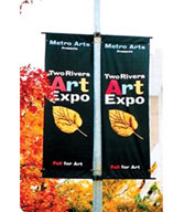 Polyester Avenue Pole Banner