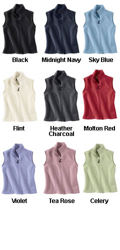 Ladies Fleece Vest - All Colors
