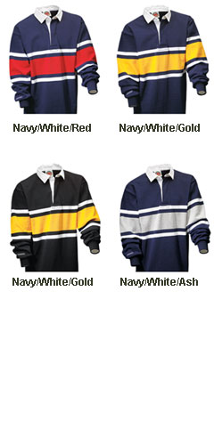 Collegiate Stripe Rugby Shirt - All Colors