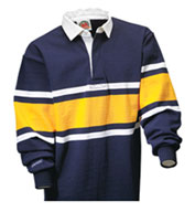 Custom Collegiate Stripe Rugby Shirt Mens