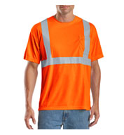 Custom ANSI/ISEA 107-1999 Background Compliant Safety Net T-Shirt Mens