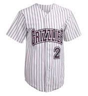 Custom Adult Pro Style Pinstripe 6 Button Front Jersey