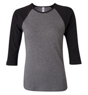 Ladies 3/4 Sleeve Raglan Colorblock T-Shirt