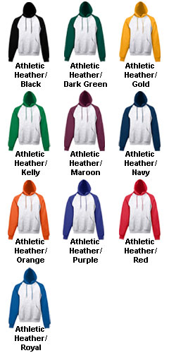 Adult Heavyweight Color Blocked Hooded Sweatshirt - All Colors