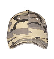 Six Panel Camouflage Cap In Six Colors
