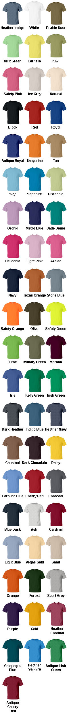 Unisex Gildan Adult T-shirt - All Colors